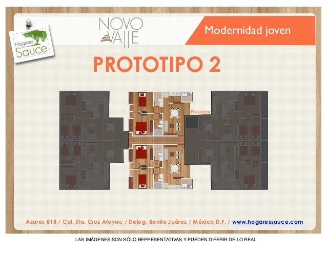 Modernidad joven  PROTOTIPO 2 Elevador  Azores 818 / Col. Sta. Cruz Atoyac / Deleg. Benito Juárez / México D.F. / www.hoga...