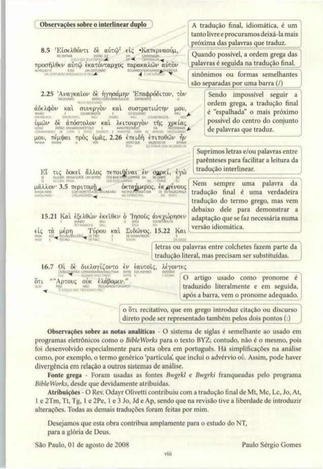 Novo Testamento Interlinear Grego Portugues Pdf