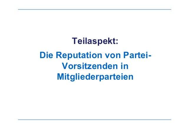 Rosemarie Nowak : Die Bedeutung von Vorsitzenden in der Internen Kommunikation innerhalb Mitglieder-Parteien im deutschen Sprachraum Slide 2