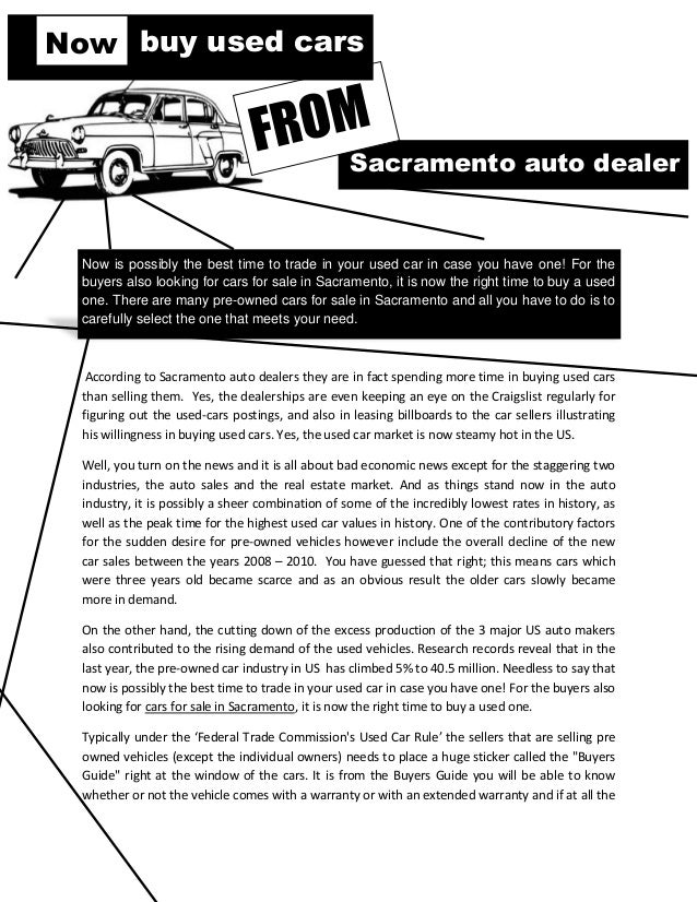 Now Buy Used Cars From Sacramento Auto Dealer