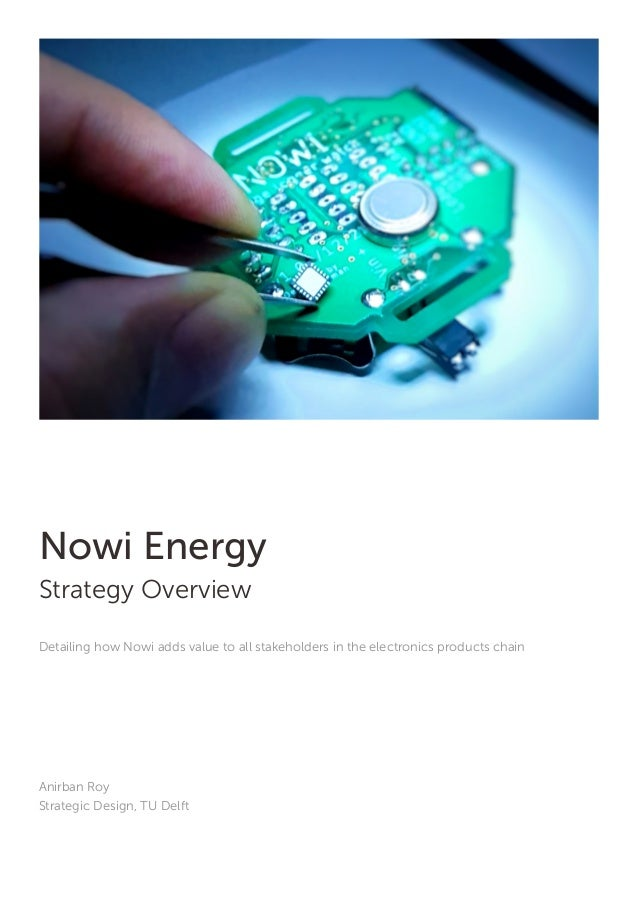 Nowi Energy Strategy Overview Detailing how Nowi adds value to all stakeholders in the electronics products chain Anirban ...