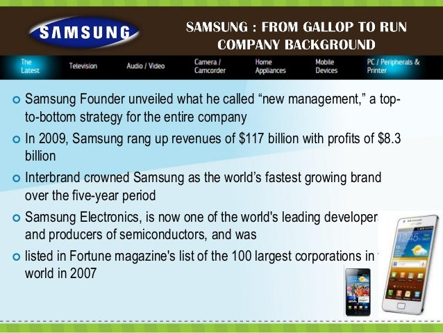 samsung From Gallop To Run Case Study Solution & Analysis