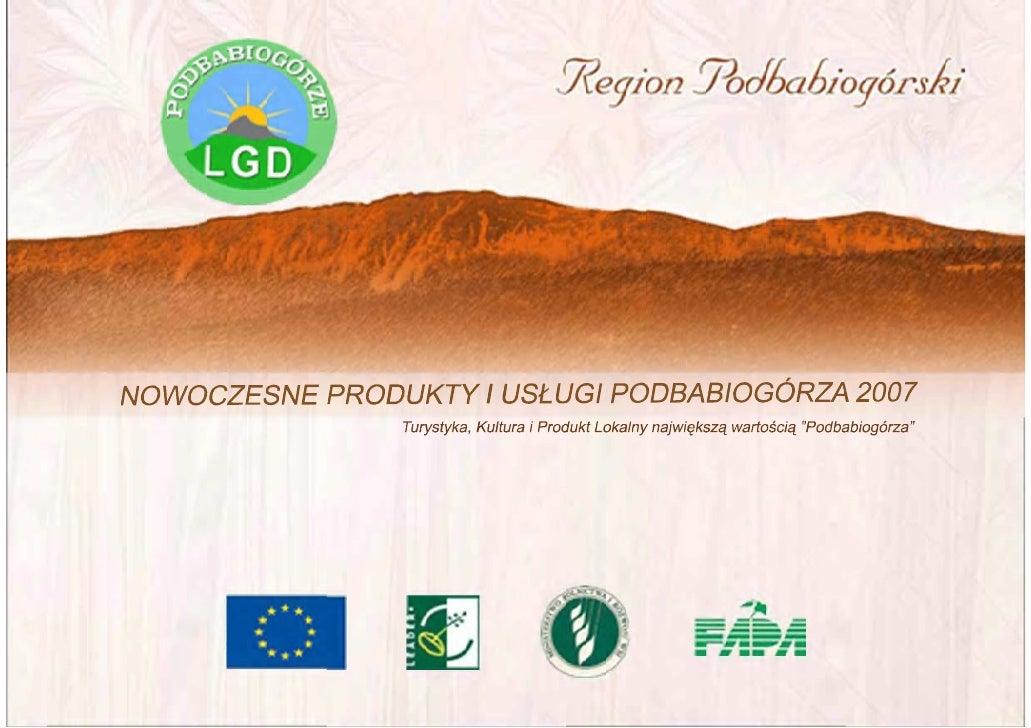 Nowoczesne Produkty I UsłUgi Podbabiogórza 2007