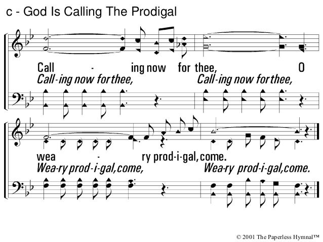 3 - God Is Calling The Prodigal © 2001 The Paperless Hymnal™