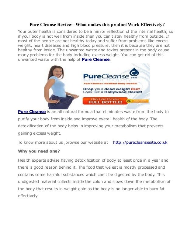 Pure Cleanse Review– What makes this product Work Effectively?Your outer health is considered to be a mirror reflection of...