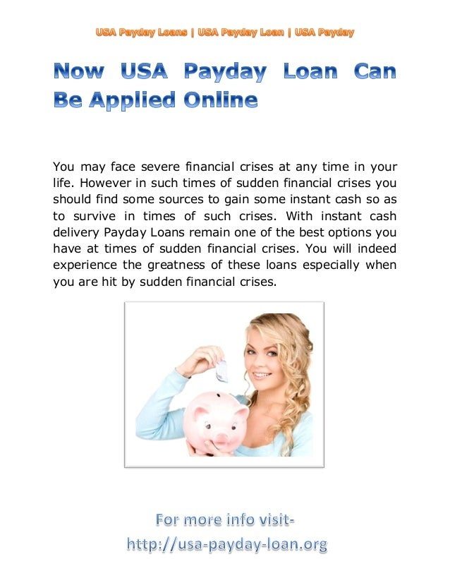 You may face severe financial crises at any time in yourlife. However in such times of sudden financial crises youshould f...