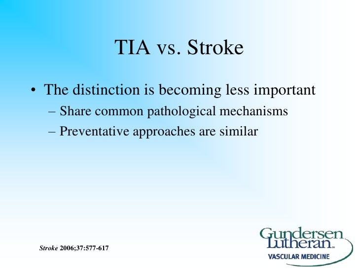 stroke vs tia essay Stroke is the most unique concept in transactional analysisit helps you to understand and improve your interpersonal writing a strong essay online course.