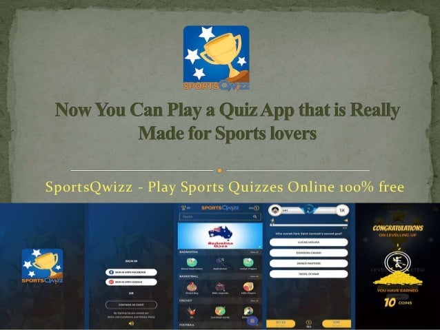 Now you can play a quiz app that is really made for sports lovers