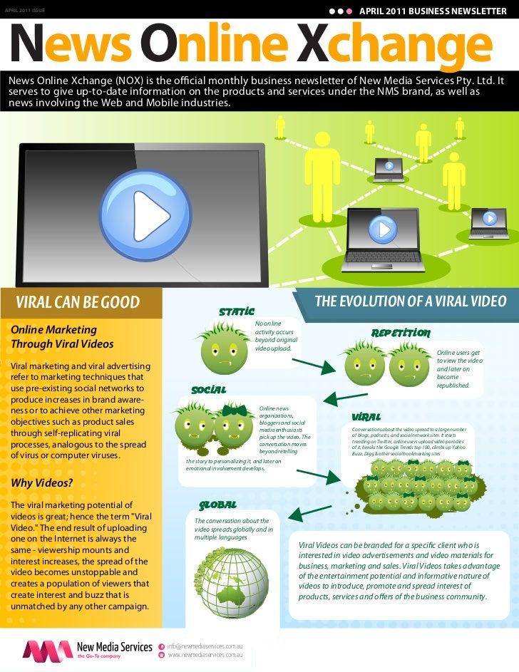 APRIL 2011 BUSINESS NEWSLETTER News Online XchangeAPRIL 2011 ISSUE News Online Xchange (NOX) is the o cial monthly busines...