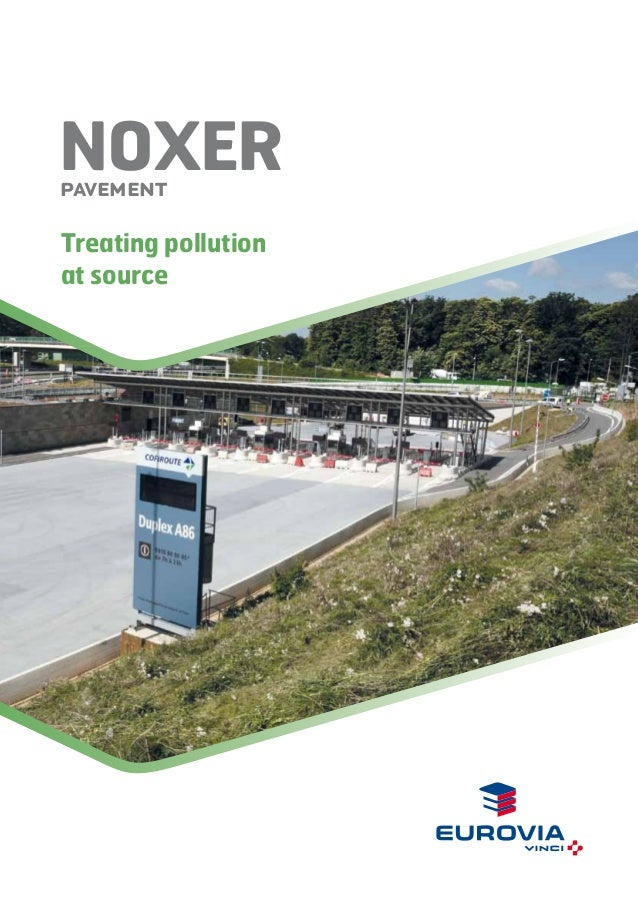 NOxer Pavement  Treating pollution at source