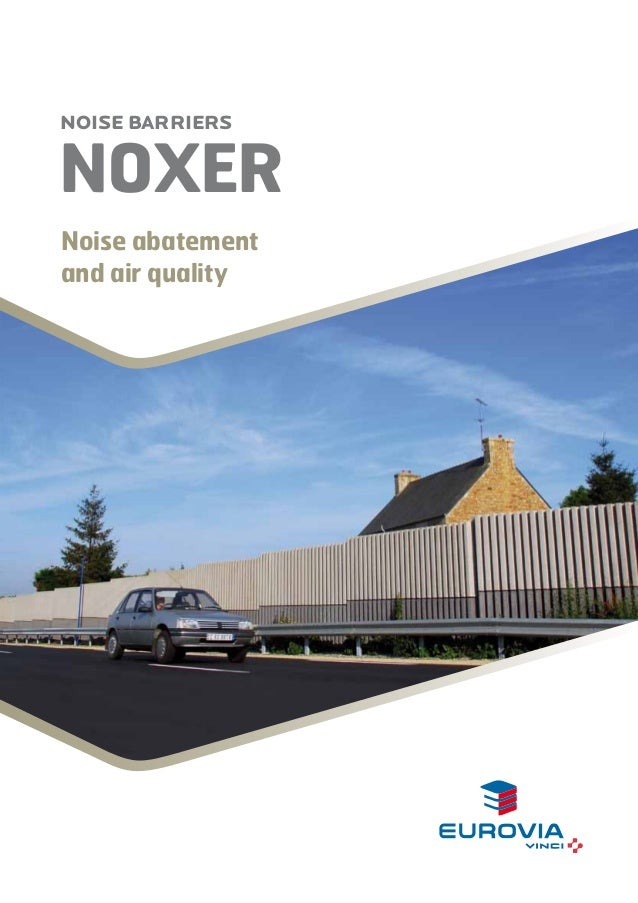 NOISE BARRIERS  NOxer Noise abatement and air quality