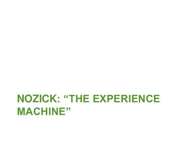 Nozick experience machine study