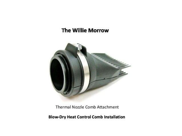 Thermal Nozzle Comb Attachment Blow-Dry Heat Control Comb Installation