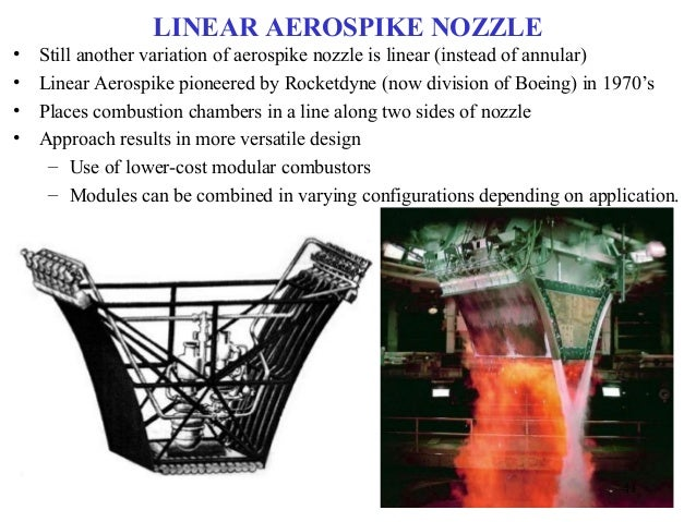 aerospike nozzle Aerospike nozzle sanad s s roll no: 50 mechanical engineering studies performed in germany in conjunction with the development of the turbojet engine nasa and the.