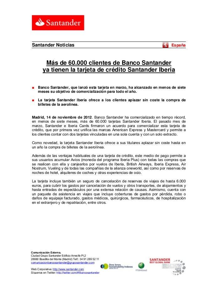 Santander Noticias                                                                   España          Más de 60.000 cliente...