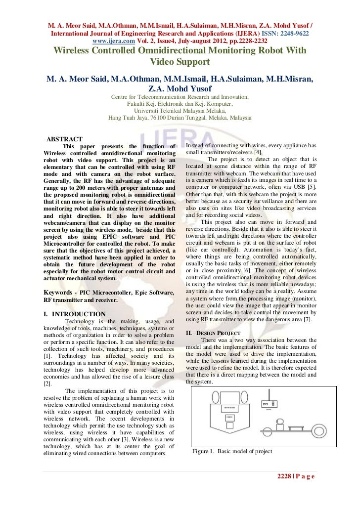 M. A. Meor Said, M.A.Othman, M.M.Ismail, H.A.Sulaiman, M.H.Misran, Z.A. Mohd Yusof /  International Journal of Engineering...