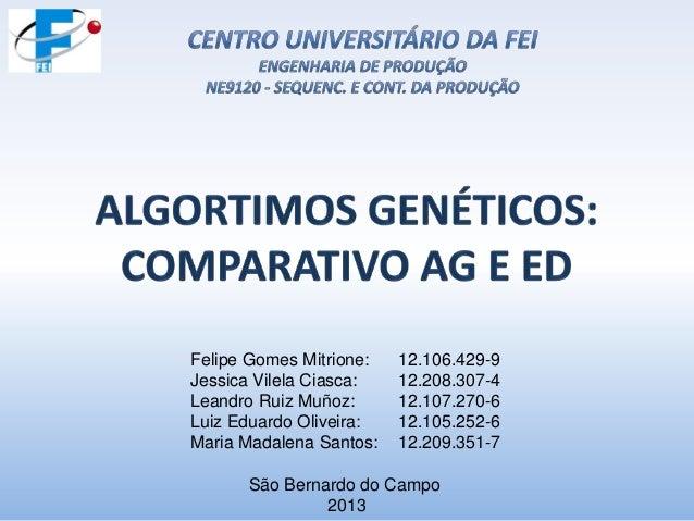 Felipe Gomes Mitrione: Jessica Vilela Ciasca: Leandro Ruiz Muñoz: Luiz Eduardo Oliveira: Maria Madalena Santos:  12.106.42...