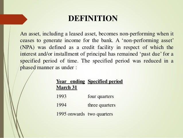 non banking assets meaning Define asset asset synonyms in case of any accident happening to his bank-notes, had immediately converted them into an available asset.