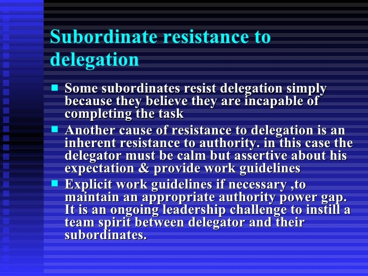 Delegation - how to
