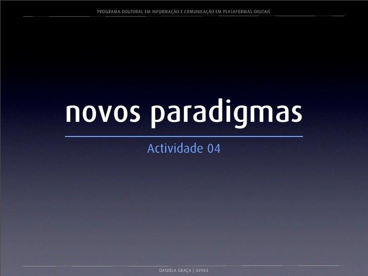 Novos Paradigmas_Apresentação Final