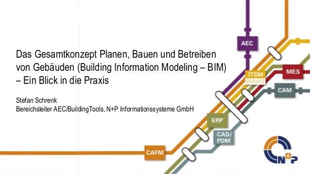 N+P Informationssysteme GmbH © N+P 2014 Das Gesamtkonzept Planen, Bauen und Betreiben von Gebäuden (Building Information M...