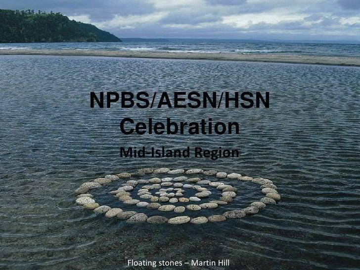 NPBS/AESN/HSN Celebration<br />Mid-Island Region<br />Floating stones – Martin Hill<br />