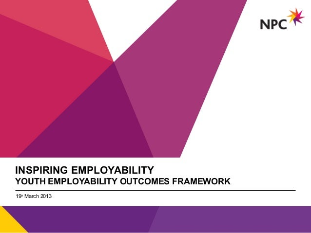 INSPIRING EMPLOYABILITYYOUTH EMPLOYABILITY OUTCOMES FRAMEWORK                         v19th March 2013
