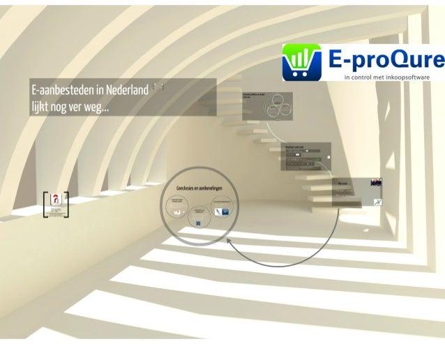 Onderzoek adoptie e-aanbesteden in Nederland 2014