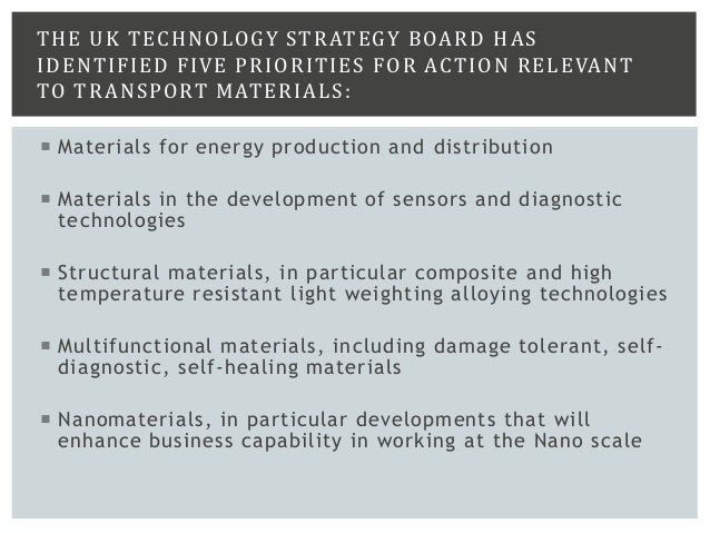 CONCLUSION Nanotechnology will be critical to implementing many innovative ideas in the transport sector not only in prima...
