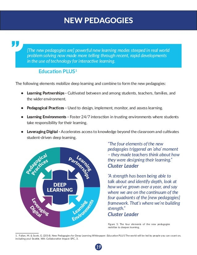 New Pedagogies for Deep Learning  (2016)  NPDL Global Report