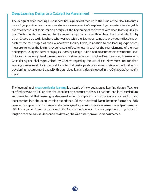 29 LEVERAGING LEARNING Linking NPDL and Curriculum One of the major points of emphasis and reflection throughout NPDL Clus...