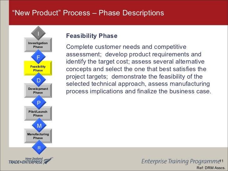 """New Product"" Process – Phase Descriptions <ul><li>Feasibility Phase </li></ul><ul><li>Complete customer needs and competi..."