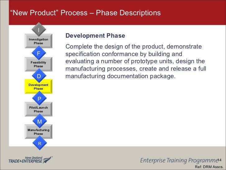 """New Product"" Process – Phase Descriptions <ul><li>Development Phase </li></ul><ul><li>Complete the design of the product,..."