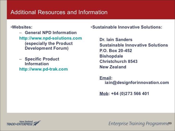 Additional Resources and Information <ul><li>Websites: </li></ul><ul><ul><li>General NPD Information </li></ul></ul><ul><u...