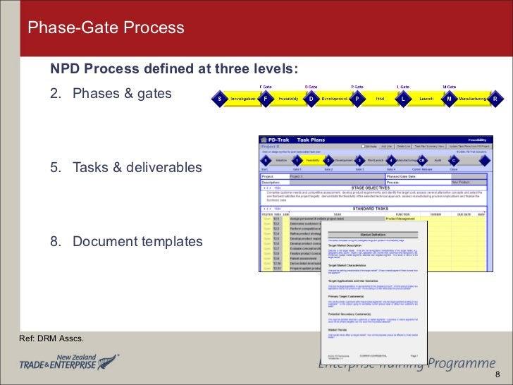 Phase-Gate Process  <ul><li>NPD Process defined at three levels: </li></ul><ul><li>Phases & gates </li></ul><ul><li>Tasks ...