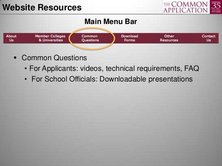 Common app essay requirements 2011