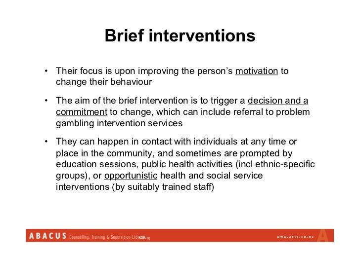 Brief intervention gambling keywords gambling