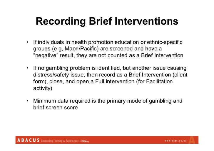Brief interventions gambling responsible gambling code of conduct victoria