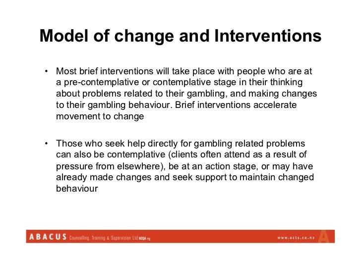 Gambling brief interventions jobs in gambling