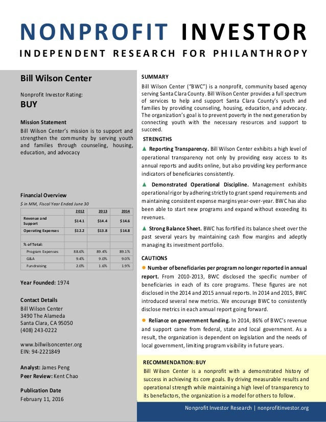 NONPROFIT INVESTOR I N D E P E N D E N T R E S E A R C H F O R P H I L A N T H R O P Y Nonprofit Investor Research   nonpr...