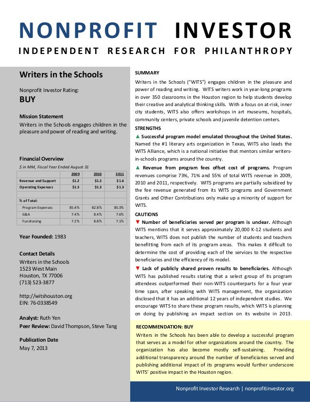 NONPROFIT INVESTORI N D E P E N D E N T R E S E A R C H F O R P H I L A N T H R O P YNonprofit Investor Research | nonprof...