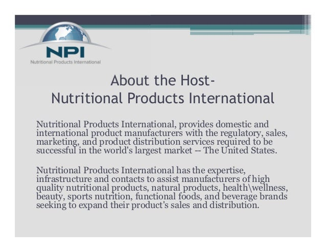 Exporting Your Dietary Supplements to the U.S.A Slide 2
