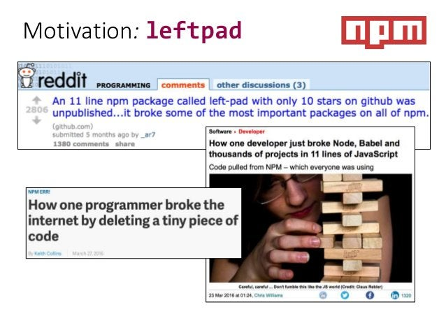 Motivation: leftpad