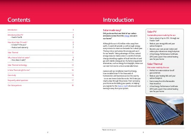 Contents                                         IntroductionIntroduction                         3     Solar made e...