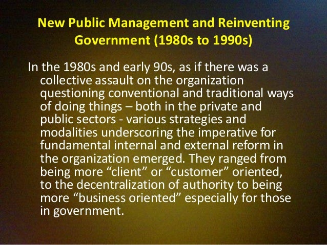 new public management and the queensland This presentation will preview a book chapter currently in preparation for the forthcoming oxford handbook of australian politics the focus will be on the ways in which australian scholars have contributed to the theorisation of new public management the ways in which thinking on that issue has evolved over the past.