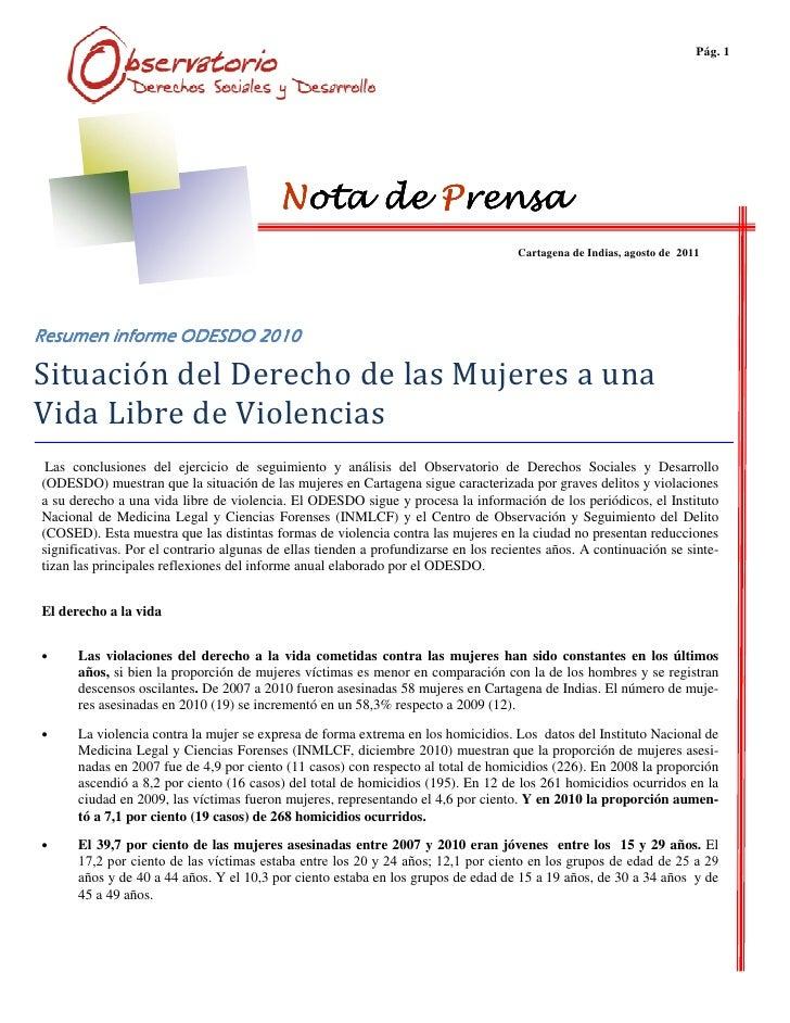 Pág. 1                                          Nota de Prensa                                                            ...