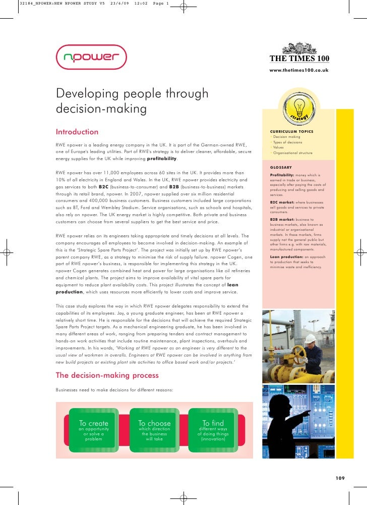 www.thetimes100.co.uk     Developing people through decision-making Introduction                                          ...