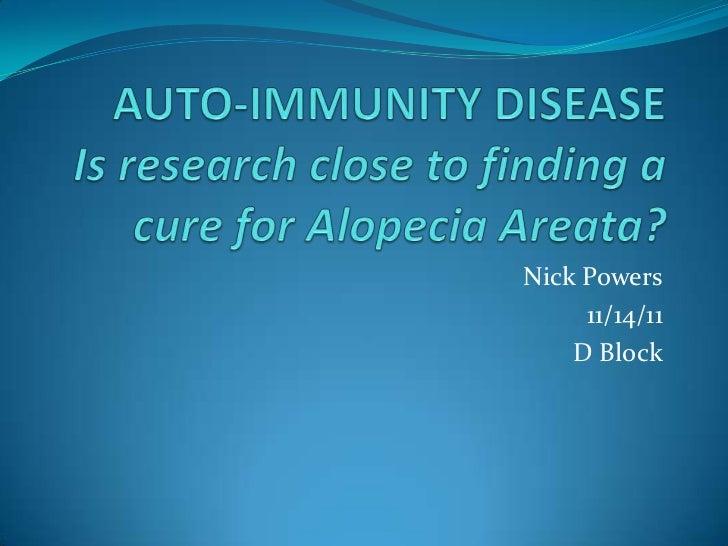 Nick Powers     11/14/11    D Block