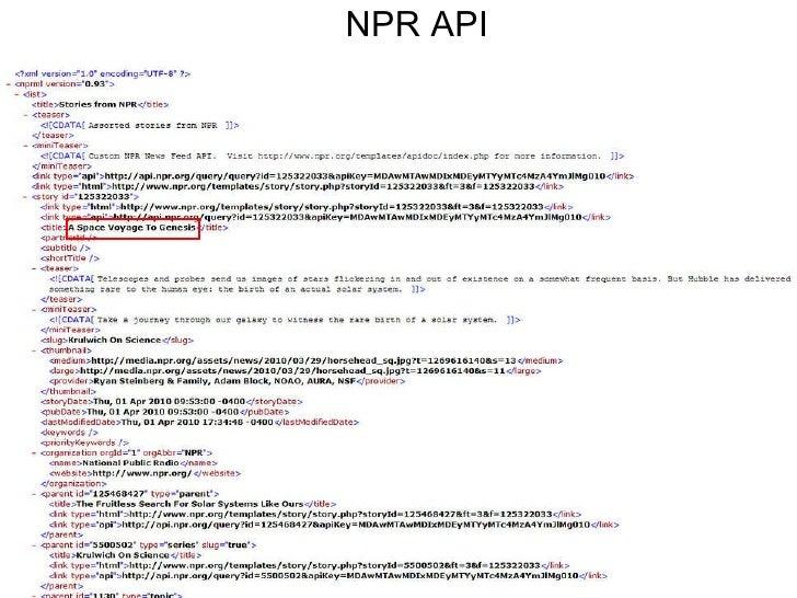 NPR API