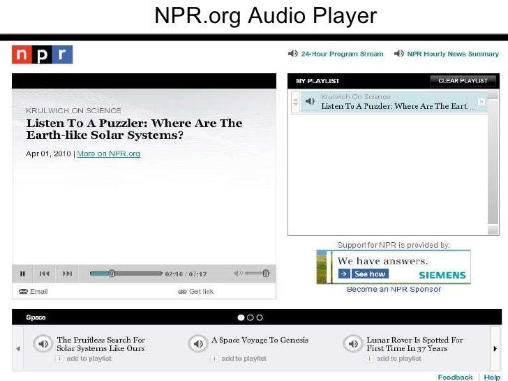 NPR.org Audio Player